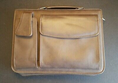3-ring Faux-leather Binder Briefcase Portfoliodaytimer