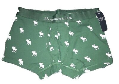 NWT Men's ABERCROMBIE & FITCH Moose Boxer Brief. Sz Large & Green.