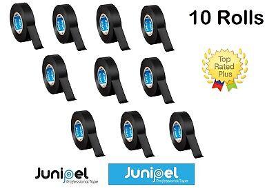 Junipel Utility Grade Vinyl Pvc Electrical Wire Tape 34 In. X 66 Ft. 10 Rolls