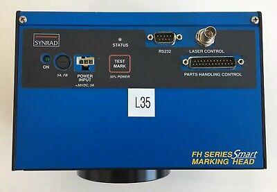 Synrad Fh Series Smart Marking Head Fhsm30-125 Fla-200 Warranty
