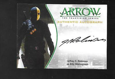 Arrow Season 1 autograph card A23 Jeffrey C. Robinson - Billy Wintergreen