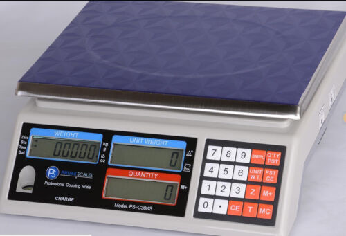 """Counting Scale 66 lb X 0.001 lb/ 30 kg x 0.5  g, Pan 11""""x8.5"""",  Brand New"""