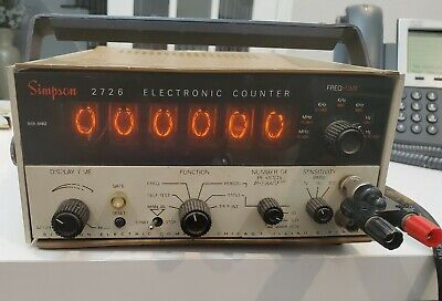 Simpson 2726 Electronic Counter Vintage Nixie Tube Display.