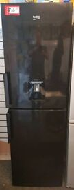 Beko fridge freezer black appliances