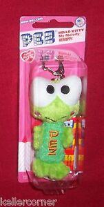 Pez-Plush-KEROPPI-Green-Frog-Sanrio-Hello-Kitty-series-Key-Chain-Mint-on-Card