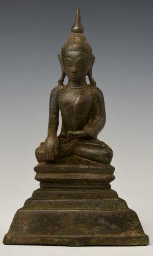 16th Century, Shan, Antique Burmese Bronze Seated Buddha