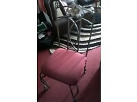 Dining Table And Six Chairs (Metal Framed) - PRICE REDUCED