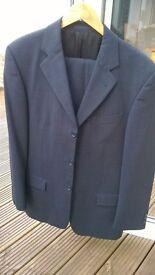 Next mens wool blend suit - dark grey/charcoal