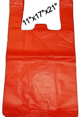 HEAVY DUTY RED VEST CARRIER BAGS (250x BAGS) 11
