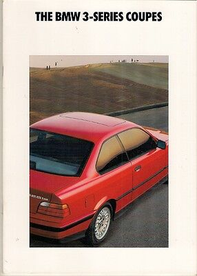 BMW 3-Series Coupe 1992 USA Market Sales Brochure 318iS 325iS