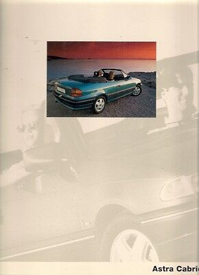 Opel Astra Cabriolet 1993 Geneva Motor Show Launch Press Pack In English