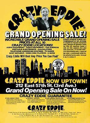 Crazy Eddie Grand Opening Poster 1981  11 x 14  Giclee print