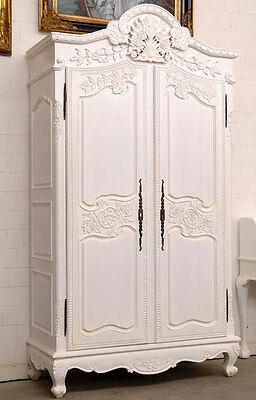 SCHRANK ANTIK WEISS ca.238cm KLEIDERSCHRANK MASSIV HOLZ SCHRANK DIELENSCHRANK - Antike Weiße Schränke