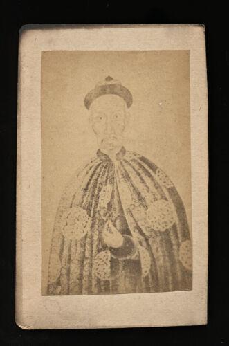 RARE 1860S CDV ALBUMEN PHOTO EMPEROR OF CHINA  / CHINESE PHOTOGRAPHER