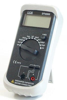 Dt6500 Digital High Accuracy Capacitance Meter 0.1 Pf To 20 Mf Test 8.2 - 820 Hz