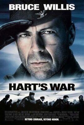 HART'S WAR MOVIE POSTER 2 Sided ORIGINAL VF 27x40 BRUCE WILLIS COLIN FARRELL