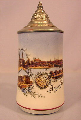 Alter Porzellankrug Ingolstadt um 1900