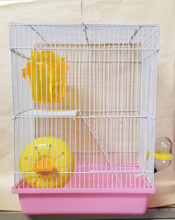 2 STORY DWARF HAMSTER CAGE #H165 COMES WITH WHEEL, HOUSE, AN
