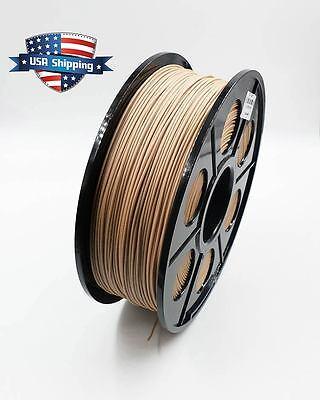 3D Printing Wood PLA Filament 1kg/2.2lb 1.75mm RepRap MarkerBot US Shipping
