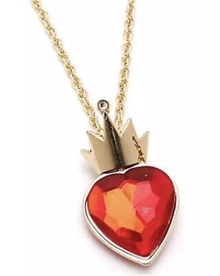 Disney Store Descendants Movie Evie's Red Heart Necklace Evie Fairest New