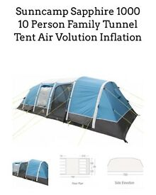 10 man air beam tent plus loads of extras