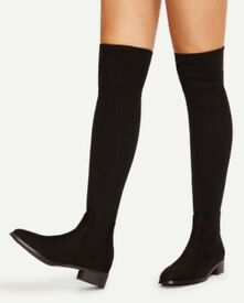 Sock boots black size 6 (39 Eur)