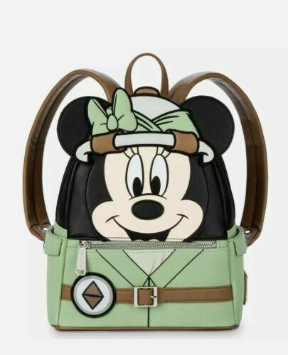 Disney Parks Loungefly Animal Kingdom Safari Minnie Mouse Mini Backpack Bag NWT