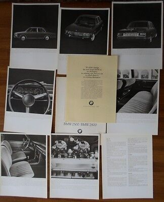 BMW 2500 & 2800 Saloon 1968 prestige German Market brochure portfolio prospekt