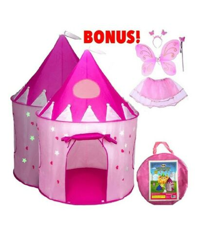 Pink Princess Castle Tent - Portable Play Tent For Girls - I