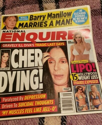 NM National Enquirer April 2015 BARRY MANILOW Marriage Article complete Magazine