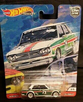 Hot Wheels Datsun 510, Door Slammers Series, White, White Wheels w/Real Riders