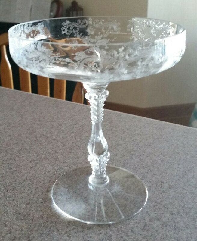 Cambridge Glass Chantilly Compote Elegant Depression