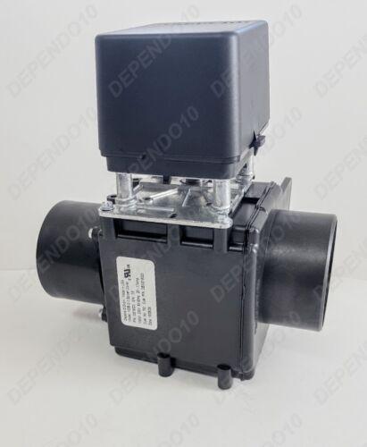 "3"" BLACK DEPENDO DRAIN VALVE W/O OVFLW 220V FOR MILNOR MI96D350A71-0 SPLSH COVER"
