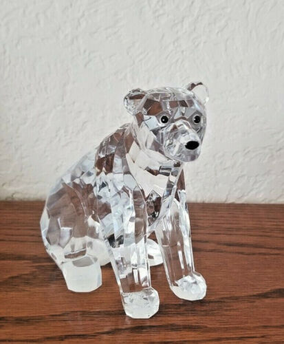 Lucite Roman Clear Faceted Polar Bear Figurine