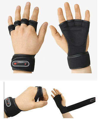 TROVIS Wrist Wrap Gloves GYM Dumbbell Weight Lifting Health Fitness Workout L