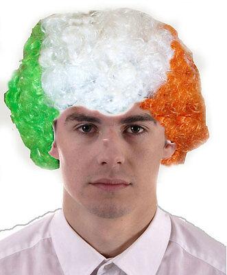 FANCY DRESS IRISH EIRE IRELAND ST PATRICKS DAY CURLY - St Patricks Fancy Dress Kostüm