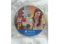 PS4 GTA 5 Grand Theft Auto 5 in mint condition game disc and case