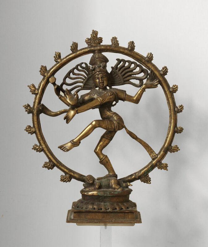 Older dancing Shiva Nataraja, India, larger piece, good cast!