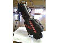 Aqua Stand Bag - Black / Red