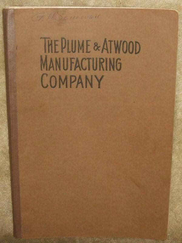 Early 1900 Plume & Atwood Mfg Co Catalogue