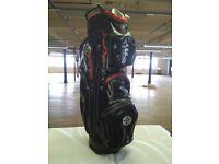 Aqua Black & Red - Cart Bag