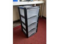 Plastic Deep Drawer Storage Unit Cabinet Office Garage Shed Bedroom Organiser Drawers
