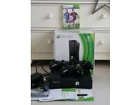Perfect condition Xbox 360 Console, 3 controllers and FIFA 15.