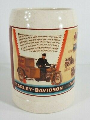 Vintage Harley-Davidson 1/4 Ton Package Truck Advertisement Stein Mug cup 1994