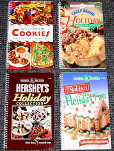 LOT Christmas Holiday Cookbooks DESSERT Baking SWEETS Cookies NEW Recipes TREATS