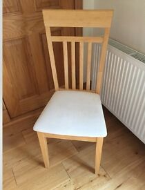 Blonde ash extending dining table and chairs