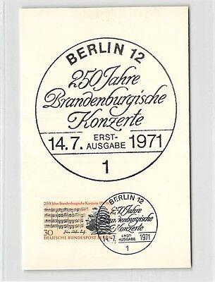 BERLIN MK 1971 BRANDENBURGISCHE KONZERTE CARTE MAXIMUM CARD MC CM d9721