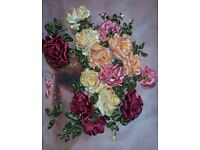Picture, Art, 3D Roses, Hand-made, NEW