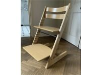 Stokke Tripp Trapp Highchair in natural beech wood colour
