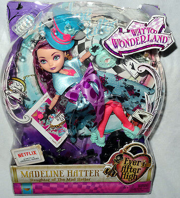 Ever After High Way Too Wonderland Madeline Hatter Doll MIB Toy Figure #CJF39